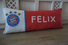 PedisHandmade, FC Bayern München Kissen, Namenkissen, Felix,