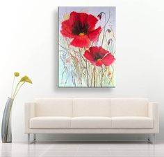 Poppies. Oil painting on canvas author por PaintingForHappyness