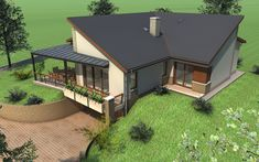 Kétszintes családi ház 237 m2   Családiházam.hu Gazebo, Sims, House Plans, Houses, Outdoor Structures, Outdoor Decor, Home Decor, Homes, Kiosk