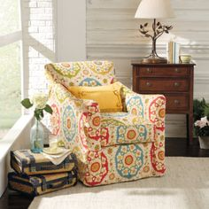 Our cozy and comfortable Ann Swivel Rocker offers both rocking and swiveling functions that will keep you relaxed for hours. This slipcover-style chair looks nearly identical to upholstered fabric, but can be conveniently removed for dry cleaning. And the space-saving design is perfect for smaller rooms or spaces.