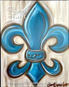 """Come paint """"Shabby Fleur De Chick"""" with friends (Monday, Sept 12 @ 7pm.)"""