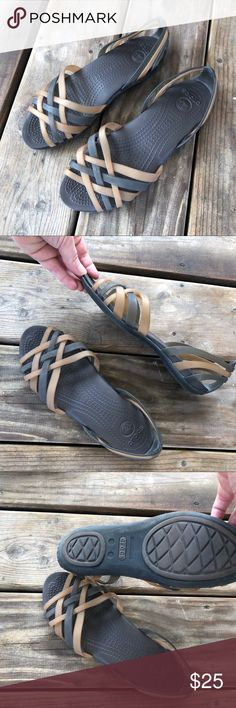 e85c39836ef3 Brown Crocs Rubber Sandal These are like new rubber crocs sandals. Two  toned brown with