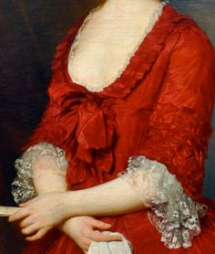 Marcello Bacciarelli: Detail from Portrait of Archduchess Maria Christina (1742-1798), Duchess of Teschen, 1766.