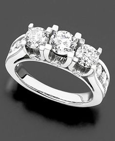 Diamond Ring, 14k White Gold Diamond (3 ct. t.w.)