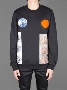 RAF SIMONS REGUALR FIT SWEATER WITH EARTH STALACITE PRINT