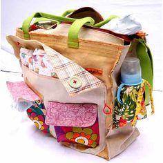 "Mama Maven: In Training: Maria Buzina Recycled ""Briage"" Diaper Bag Tote"