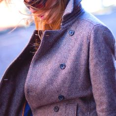 Love this tweed coat by EmersonMade.