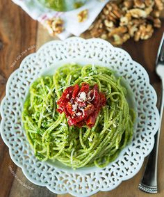 A different take on the traditional pesto pasta (photo courtesy of Table for Two)