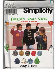 Design Your Own Jacket / Original Simplicity Uncut Sewing