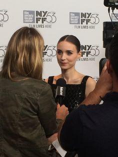 From tonight's #CarolFilm premiere at #NYFF, Rooney Mara walks the red carpet.