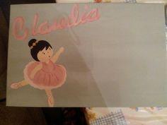 Cuadro infantil personalizado  Bailarina