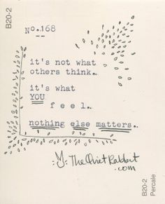 no.168 - nothing else matters.