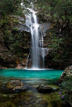 Santa Bárbara Waterfall, GO/Brazil