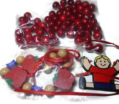 Wooden Beads Crafting/Jewelry Making Lot - 12mm Red Wooden Round Beads Lot