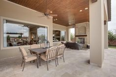 Over sized Covered Outdoor Living Area