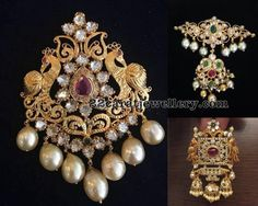 Latest Collection of best Indian Jewellery Designs. India Jewelry, Temple Jewellery, Hair Jewelry, Diamond Jewelry, Gold Jewelry, Jewelery, Indian Jewellery Design, Jewellery Designs, Pendant Design