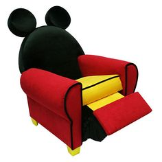 Disney Mickey Mouse Icon Recliner  - Harmony Kids -  Furniture - FAO Schwarz®