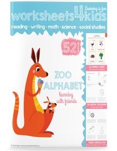 Explore animal alphabet with your kindergarteners. 104 animal flash cards with a highlighted first letter. So many fun activities! You can come up with a small story about each animal, practice isolating the beginning sound, make a zoo, and more!  26 animal mini-books include: 4 animals, tracing and writing activity, and drawing animal. You child can come up with an animal starting the specific letter. It can be an actual animal, or a name of her favorite pet. Draw and label it!