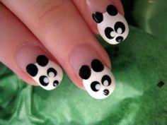 kids nail art pandas