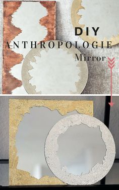Inspired by an expensive store bought version, this DIY Anthropologie Mirror is a simple and inexpensive way to add style to your home. Recycler Diy, Diy Tapete, Anthropologie Mirror, Mirror Crafts, Diy Mirror Decor, Diy Ombre, Ideas Geniales, Weekend Projects, Diy Frame