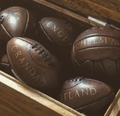 Vintage Rugby balls and footballs personalised