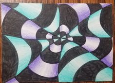 How to Draw an Op Art Bullseye - Art by Ro Drawing Practice, Line Drawing, Illusion Drawings, Atc Cards, Art Classroom, Classroom Ideas, Artist Trading Cards, Op Art, Teaching Art