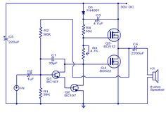 10 Watts Mosfet Audio Amplifier #ECE