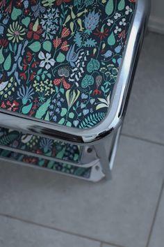 Elin Höglind: DIY renovering av AWAB-pall Outdoor Chairs, Outdoor Furniture, Outdoor Decor, Home Decor, Decoration Home, Room Decor, Garden Chairs, Interior Decorating, Outdoor Furniture Sets