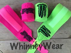 Fox and Monster patch polo wraps   www.whinneywear.com www.facebook.com/whinneywear