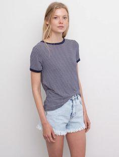 Pull & Bear Multi Stripe T-shirt