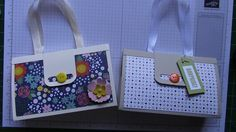 Purse Shaped Gift Box with Stampin' Up's designer series paper and stamps