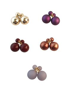 Meridian Avenue Double Pearl Stud Earrings Multi Colors