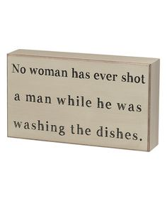 Look what I found on #zulily! 'Washing the Dishes' Box Sign by Collins #zulilyfinds