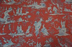 SCHUMACHER CHINOISERIE ASIAN TOILE Starry Night No left Selv SOLD BY THE YARD