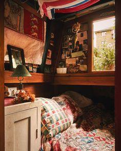 Emma Freemantle for Cabana Magazine — Kensington Leverne Photography Hogwarts, Cabana Magazine, Narrowboat Interiors, Requiem For A Dream, The Burrow, Garden Bedroom, Van Living, Harry Potter Aesthetic, Cozy Room