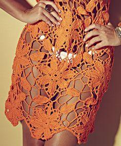Fabulous Crochet a Little Black Crochet Dress Ideas. Georgeous Crochet a Little Black Crochet Dress Ideas. Black Crochet Dress, Crochet Skirts, Crochet Tunic, Irish Crochet, Crochet Motif, Crochet Clothes, Crochet Lace, Crochet Stitches, Crochet Patterns