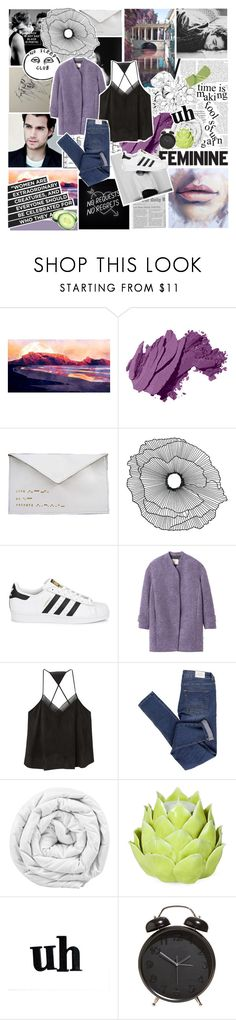 """""""no regrets baby"""" by fashionisall12 ❤ liked on Polyvore featuring Bobbi Brown Cosmetics, Antoinette Lee Designs, Home Decorators Collection, adidas Originals, Strange Days, Rebecca Taylor, MANGO, Cheap Monday, Brinkhaus and Zara Home"""