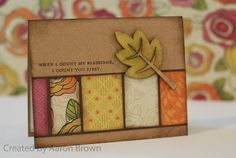 Booth #32: Flirty card with wooden leaf