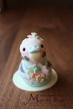 Budgie sugar art by marikosugar