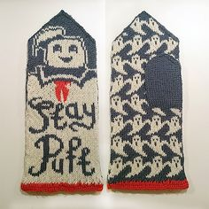 Ravelry: Stay Puft mittens (Ghostbusters tribute) pattern by Therese Sharp