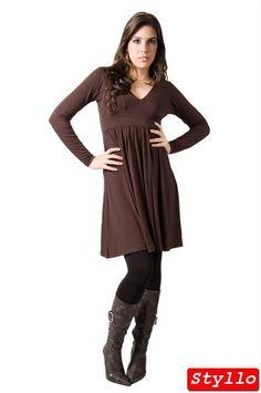 vestido de manga longa de frio