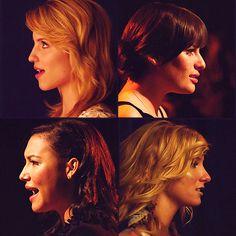 Quinn Fabray, Rachel Berry, Santana Lopez, Brittany S. Pierce.