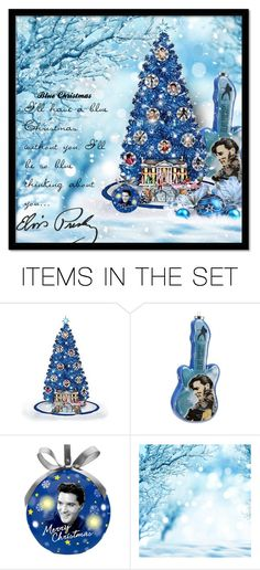"""Elvis Presley-Blue Christmas"" by majezy ❤ liked on Polyvore featuring art"