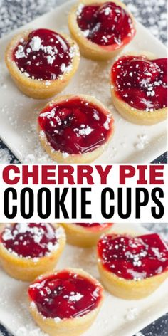 The Rise Of Private Label Brands In The Retail Meals Current Market Cherry Pie Cookie Cups Are Simple And Delicious With Only 3 Ingredients. It Is Easy To Make A Big Batch Of This Easy Dessert Recipe For Parties Cherry Desserts, Cherry Recipes, Easy Desserts, Delicious Desserts, Dessert Recipes, Yummy Food, Top Recipes, Sweet Recipes, Recipes