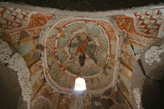 Early Christian cave church, Ihlara Valley, Cappadocia ,iconography in the cave church
