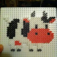 Cow Harvest Moon hama beads by toxifox