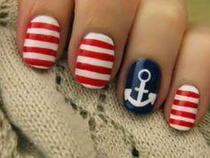 Sailor nails... way cute