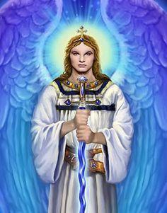 The Archangel Michael in Mycenaean Linear B, Ancient Greek, English & French Catholic Archangels, Seven Archangels, Karma, Archangel Uriel, Religion, Mycenaean, Angel Warrior, Christian Images, Ascended Masters
