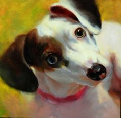 "Daily Paintworks - ""Shelter Rescue #1"" - Original Fine Art for Sale - © Dorothy McLennan"