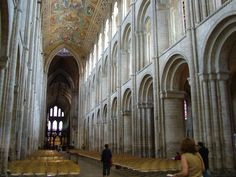 ROMANESQUE ARCHITECTURE, England - Norman nave, Ely cathedral (1080 to c. 1250),